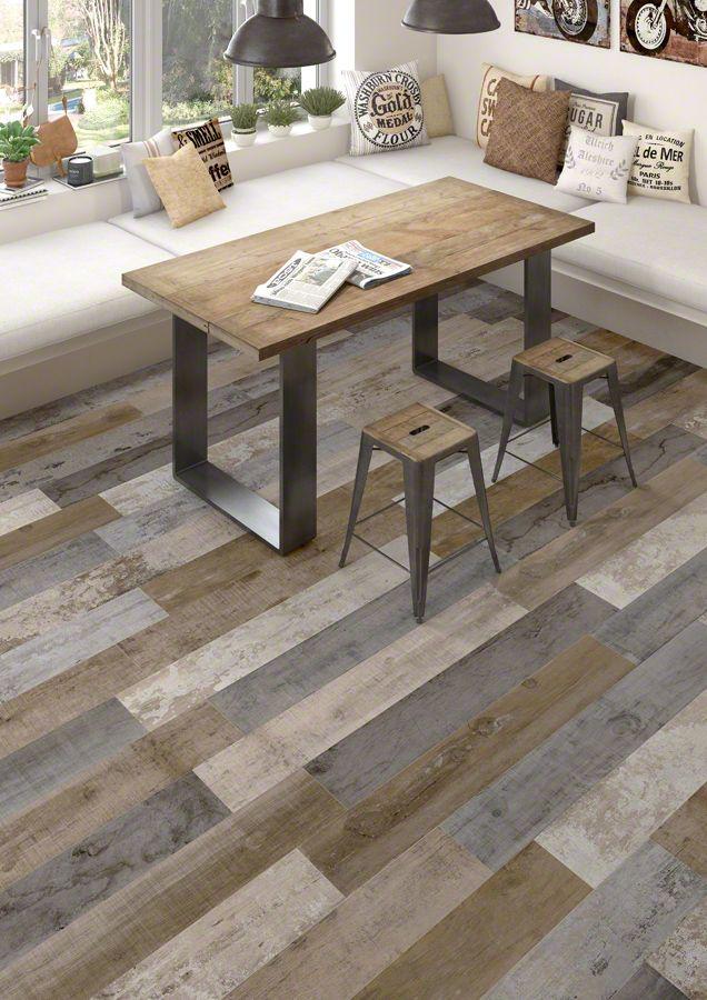 VIVES - Floor tiles - porcelain Montgomery Multicolor 19,2X119,3  cm. | VIVES azulejos y Gres | ceramic wood | vintage wood | porcelain tile