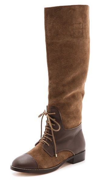 Twelfth St. by Cynthia Vincent Garret Western Riding Boots- I wish I had more of the green