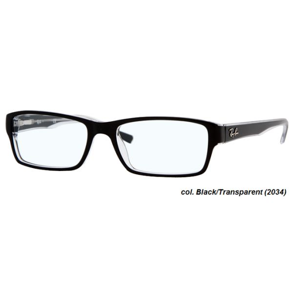 ray-ban cats 5226 color 2034 black on transparent