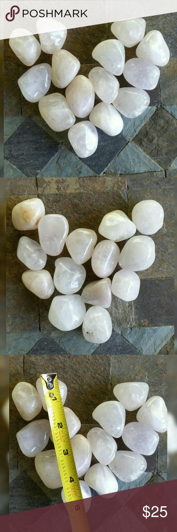 1 POUND CRYSTAL STONE TUMBLED PINK ROSE QUARTZ Lot of 1 pound natural tumbled crystal gemstones    PRICE IS FOR 1 POUND!  THERE ARE 2 POUNDS AVAILABLE    PLEASE ASK QUESTIONS BEFORE BUYING  SOLD AS IS  ALL ITEMS VIDEO TAPED BEFORE SHIPPING rawformcrystals Jewelry