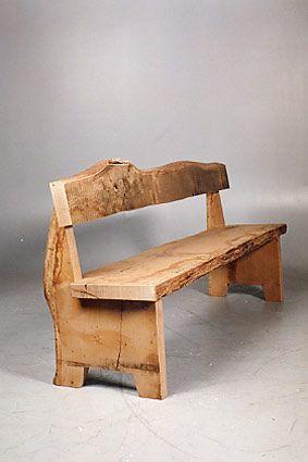 oak wood bench