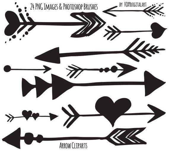 Tribal Arrow Clipart Hand Drawn Arrow Clipart Photoshop Etsy Hand Drawn Arrows How To Draw Hands Arrow Drawing