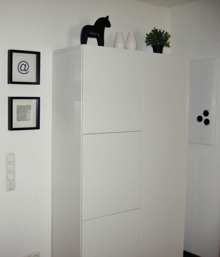besta vitrine schrank ikea wei schwarz - Ikea Home Planer Wohnzimmermobel