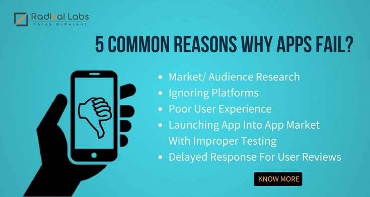 5 Reasons Why Apps Fail and How You Can Avoid These Mistakes