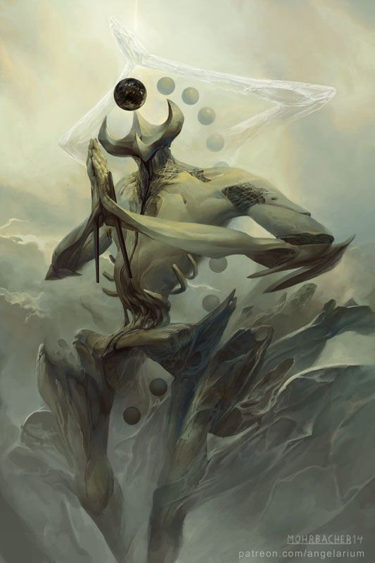 Keter  Art by Peter Mohrbacher  Part of the Tree of Life for Angelarium. A surreal series of character portraits based on the Kabbalah.