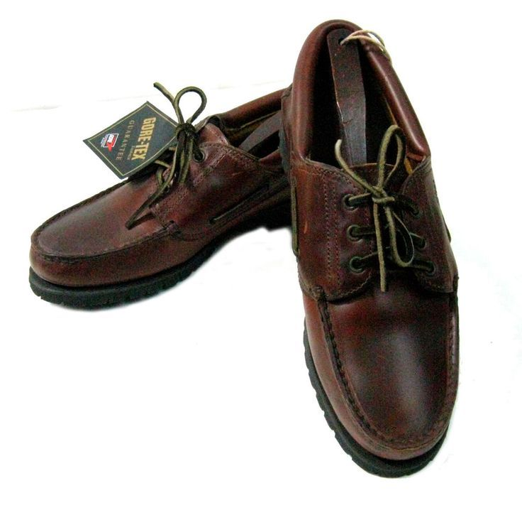 VTG 90's TIMBERLAND Gore-Tex Brown Leather Boat Shoes