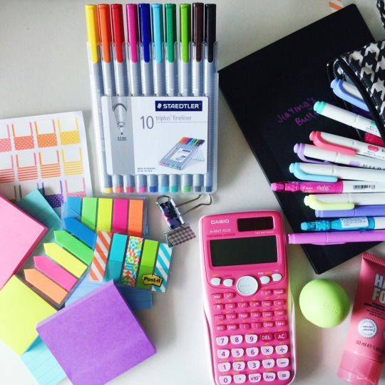back to school supplies for organization