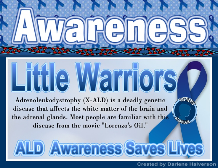 lorenzos oil in search for a cure for adrenoleukodystrophy ald Augusto, michaela, and lorenzo odone  child with the illness adrenoleukodystrophy (ald)  for developing a controversial treatment using lorenzo's oil,.