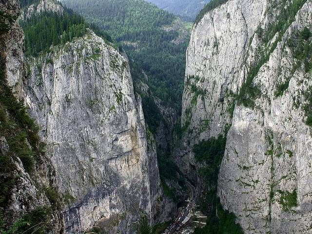 The Bicaz Canyon is a canyon in Romania, located in the north-east part of the country, in Neamţ and Harghita counties.
