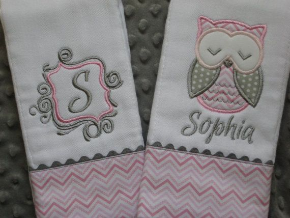 LOVE this Personalized Baby Girl Burp Cloths by SassyJunebugDesigns on Etsy, $22.00