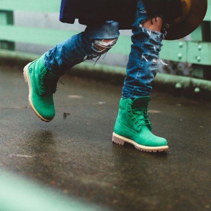 soldes timberland promo en vert clair coloris original
