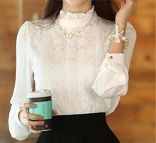 New-2017-Autumn-Women-blouses-Korean-Style-clothing-Fashion-Elegant-White-Shirts-Crochet-Lace-Long-Sleeve