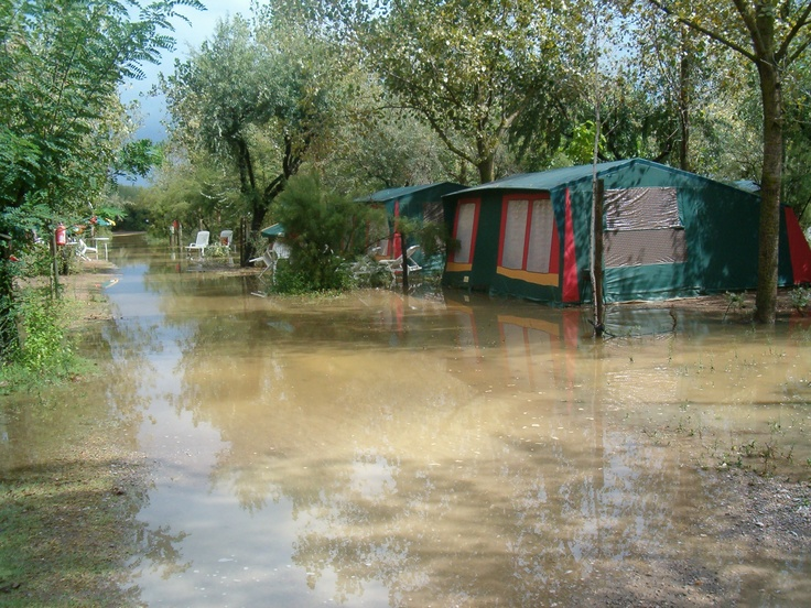 The aftermath of the biblical flooding that hit just before we were all due to go home... I had to wade into some of these tents in flip-flops to retrieve inventory (yuck!)...