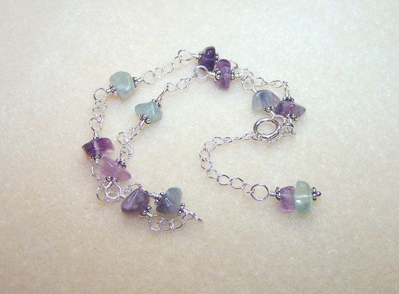 Gemstone Anklet for Women Fluorite Body Jewelry Canada