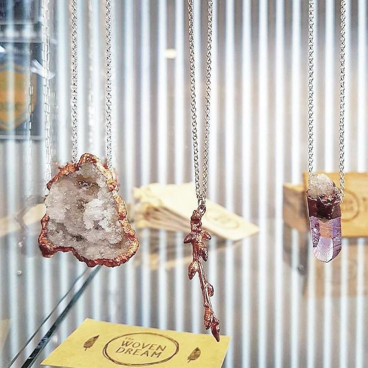 Reposting from @stur_gallery who have a  beautiful new collection of ours. Pop in for a look! All ethically sourced crystals electroplated with recycled copper on a 925 quality sterling silver long 700mm chain. All tags and packaging made from recycled materials including old Melbourne floor boards. #pendant  #thewovendream #braidwood #Australia #madewithlove #handmadewithlove #handmadebyonelady #crystal #crystalhealing #crystalpendant #love #sturgallery #southcoastnsw