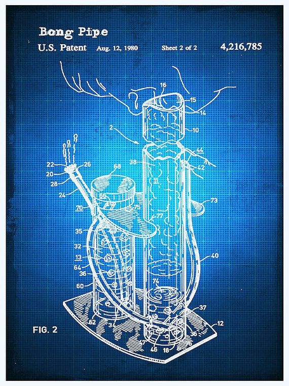 10 best cannabis images on pinterest cannabis blueprint drawing bong patent blueprint drawing by tony rubino giclee print introducing the art of you malvernweather