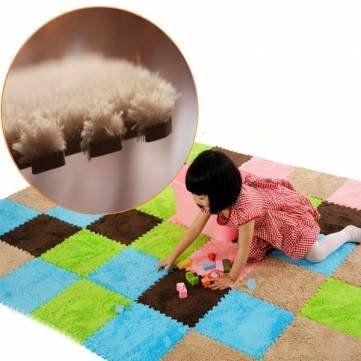 Foam Fur Puzzle Mats Child Floor Carpet Rugs Soft EVA Ground Mat