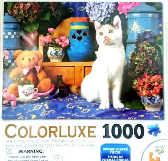 Cat &Teddy Bear Colorluxe 1000 Piece Jigsaw Puzzle Christmas Gift FAST FREE Post