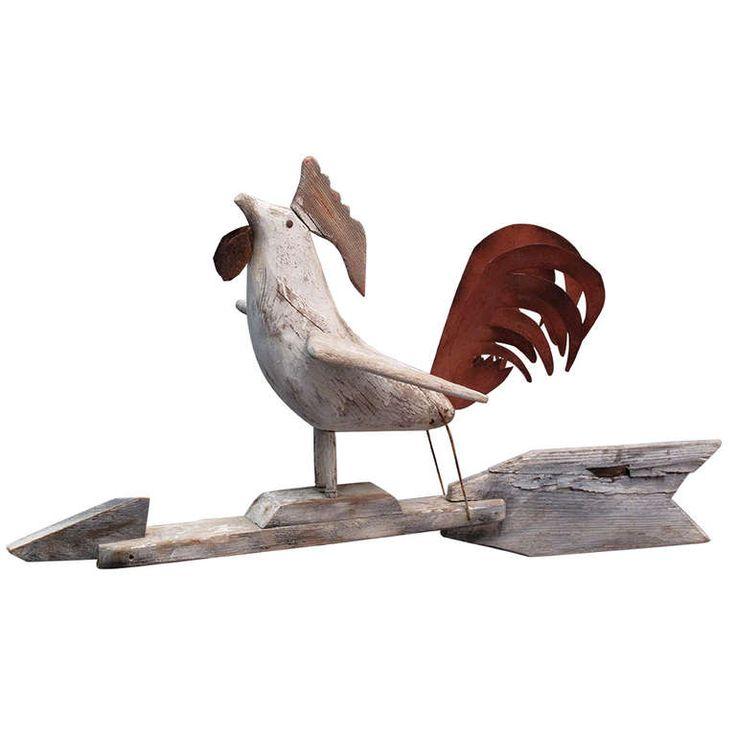 Albert Zahn (1864-1953) Rooster Weathervane