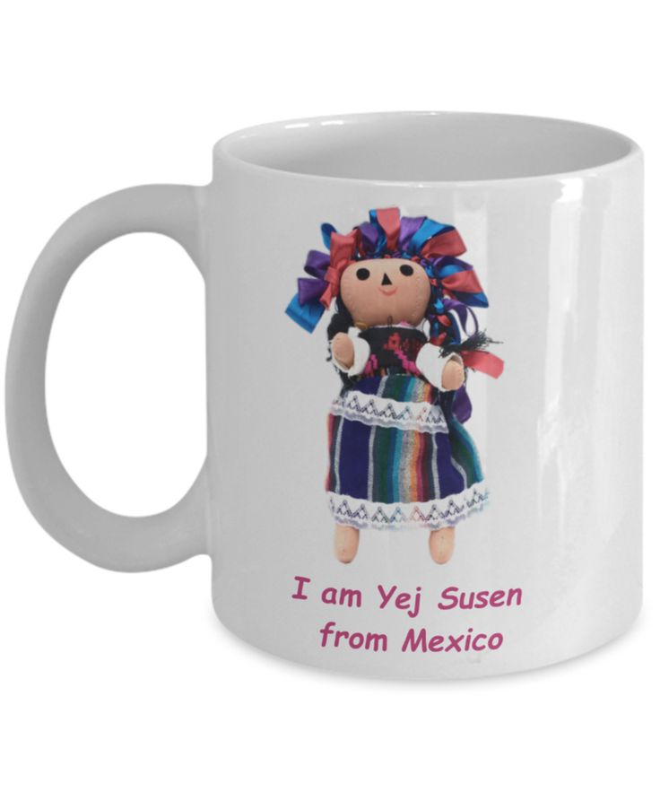 Mug with Mexican Doll