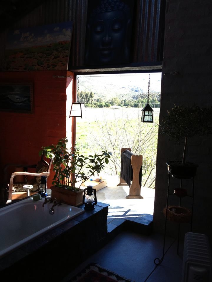 """Joe De Villiers Designs ~ Shisa's Stunning Bathrooms ~ """"What more do U want..."""" Another Bathroom with a View ~ Shisa Guest Farm,Tulbagh, Western Cape RSA"""