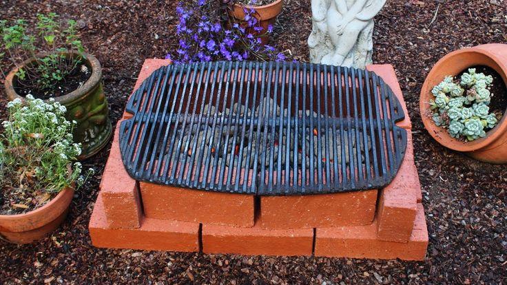 How to Make a Brick Grill - DIY Temporary Brick Hibachi Grill