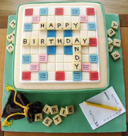 Cake Walk: Scrabble Board Birthday Cake                              …
