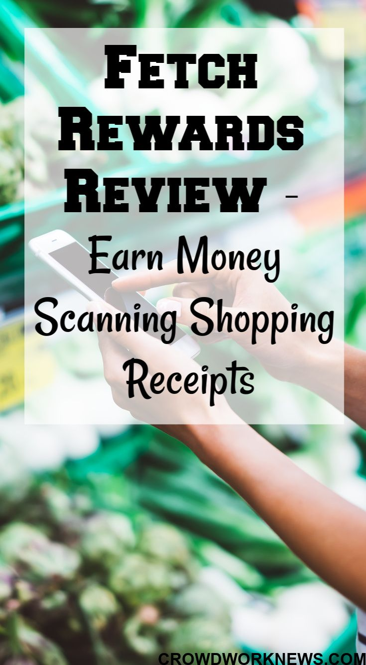 Fetch rewards review earn money taking photos of grocery