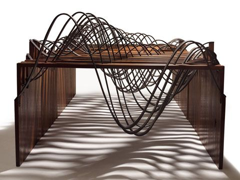 Tidal Datums is a wooden table whose form is inspired by the formal language of data graphics. The table is intended to be a representation of analytic information through the medium of furniture.
