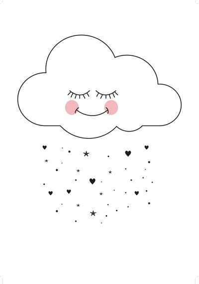 Baby, nursery, art, decor, decorate, decorating, decoration, decorations, print, cloud, clouds, heart, hearts, star, stars