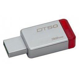 Capacidad de Almacenamiento:32GB  Características Físicas Color:Rojo  Información General Cantidad de Unidades:1 Código de Fabricante:DT50/32GB Dirección Web de Fabricante:http://www.kingston.com Fabricante:Kingston Technology Company Información de Marketing: DataTraveler® 50 es un dispositivo Flash USB liviano con capacidades de 8GB a 128GB1.