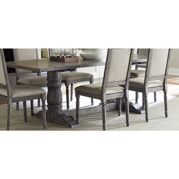 Top Product Reviews for Muses Grey Finish Rectangle Dining Table - Overstock.com - Mobile