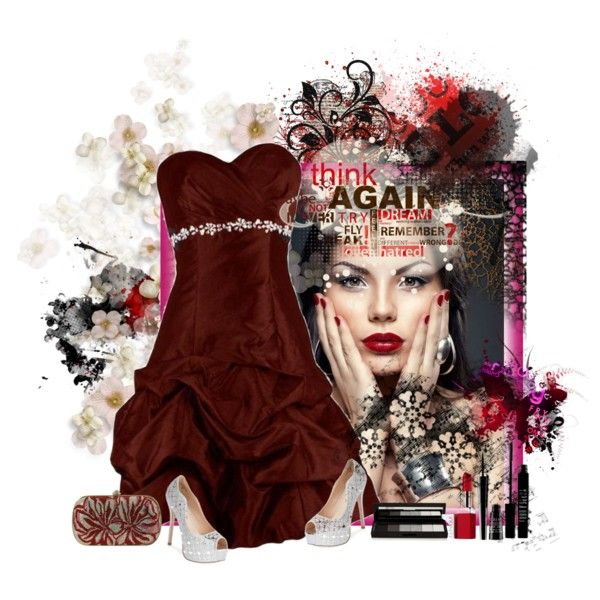 RED DRESS by diaparsons on Polyvore featuring Lauren Lorraine, shu uemura, Lord & Berry and Clinique
