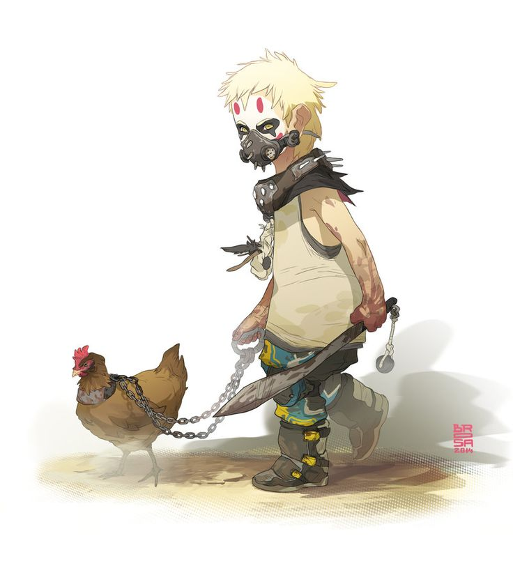 "Post-apocalyptic child with chicken. ""Children from the Wasteland 2"" by Sergi Brosa"