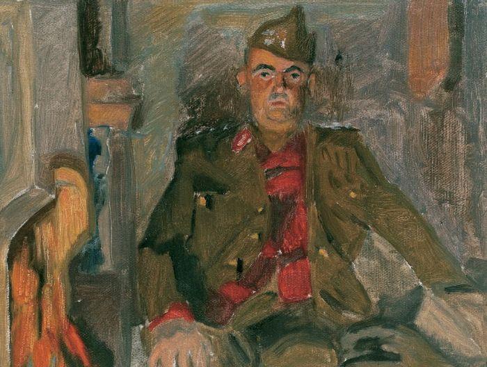 Τσαρούχης Γιάννης-Προσωπογραφία του λοχαγού Δ.Γεωργόπουλου.
