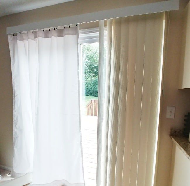 How To Replace Vertical Blinds With Curtains Today S Creative