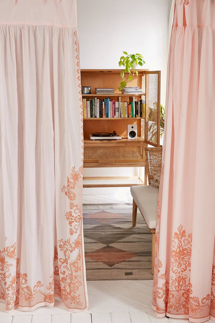 Pink cheetah print curtains - Slide View 1 Pleated Printed Lace Curtain