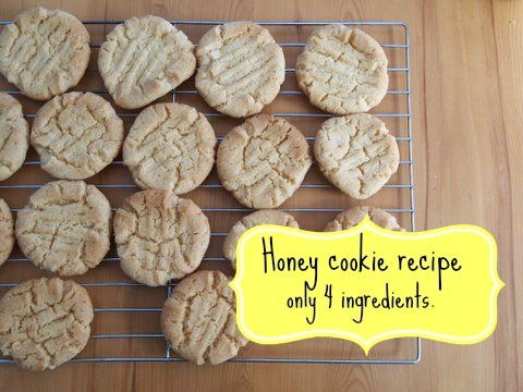 An easy honey cookie recipe with just 4 ingredients.