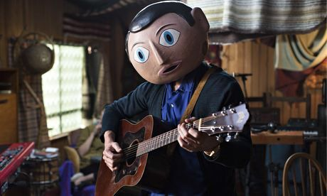 Michael Fassbender as Frank Sidebottom in Frank.