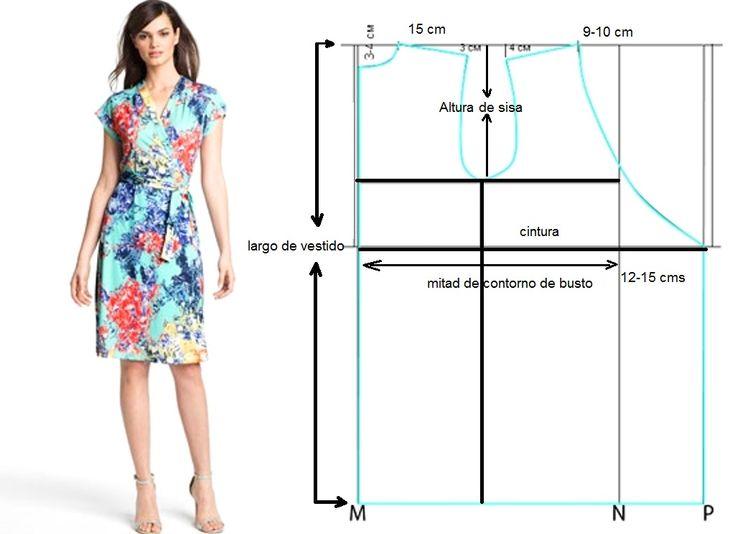 Para confeccionar este hermoso vestido de dama sigue los siguientes pasos: Divide el contorno de busto entre dos, mide el largo desde el hombro y traza un rectángulo. Divida el rectángulo a lo larg…