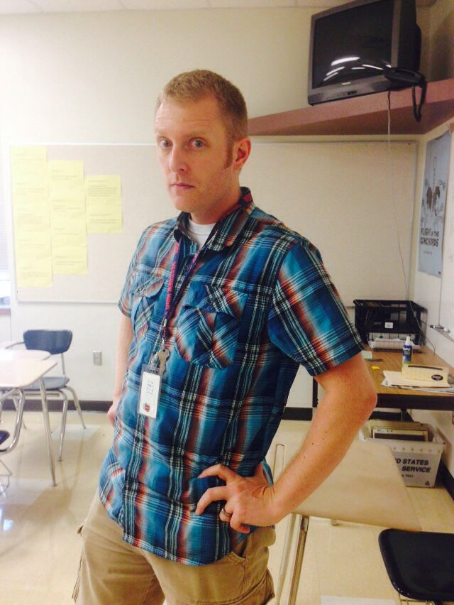"""My math teacher, he's pretty cool... One of the funniest...  So, girls, I present you your """"Profesor Juan"""" but this one is Mr. Johnson"""