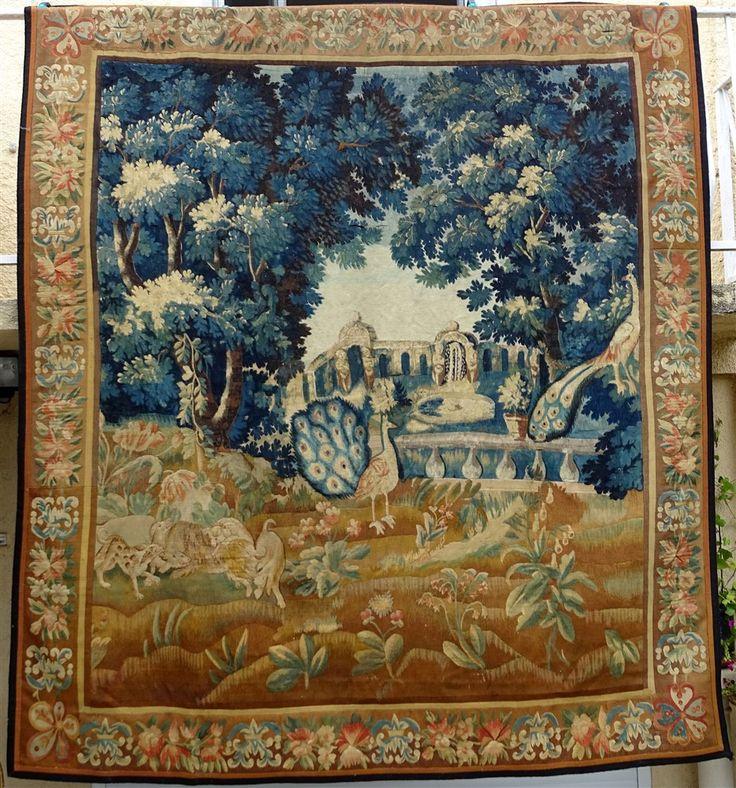 02* Dans Le Parc D'un Château De Loire Importante Aubusson XVIIIème Siècle, ARTE TRES GALLERY, Proantic