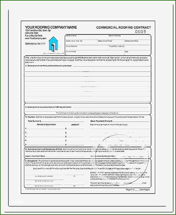 15 Fantastic Free Roofing Contract Template That Don T Take A Long Time Contract Template Roofing Contract Invoice Template Word