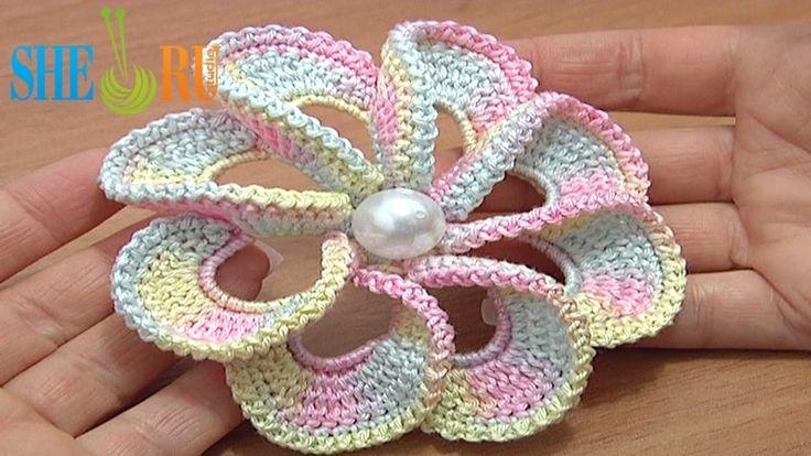 3D Spiral 8-Petal Flower Trim Around Tutrial 56