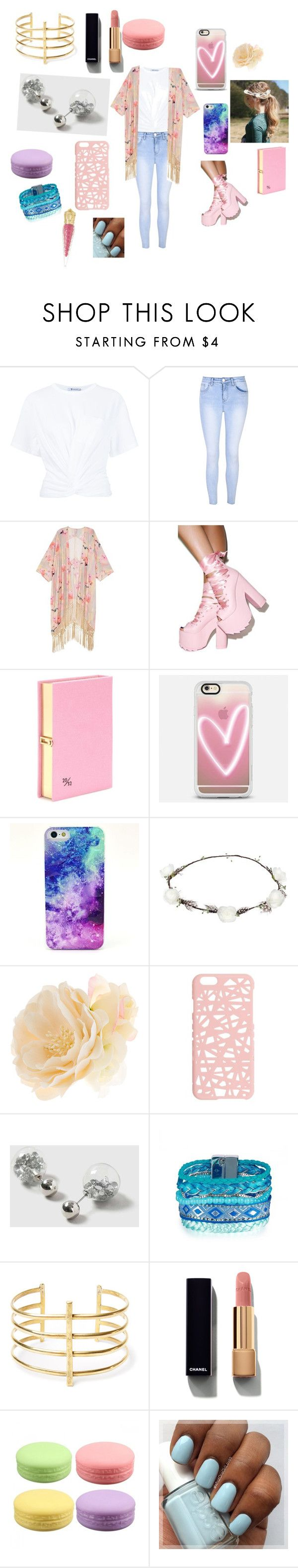 """Весенний стиль"" by simonyulya ❤ liked on Polyvore featuring beauty, T By Alexander Wang, Glamorous, Melissa McCarthy Seven7, Y.R.U., Olympia Le-Tan, Casetify, Lipsy, Accessorize and Miss Selfridge"