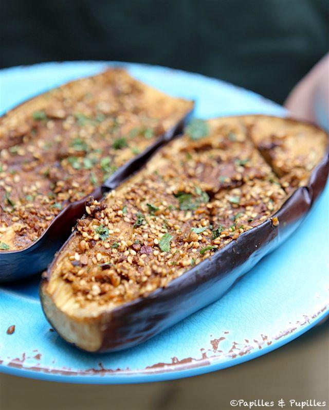 Aubergines grillées au four à la dukkah