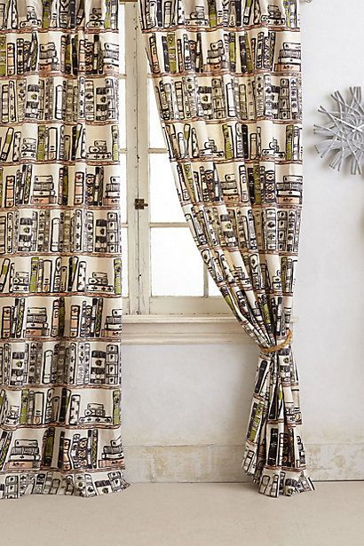 Book Curtains -- these are definitely my favorite of all I've seen so far!