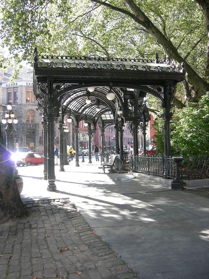 Pioneer Square Pergola 01 - Pioneer Square, Seattle - Wikipedia, the free encyclopedia
