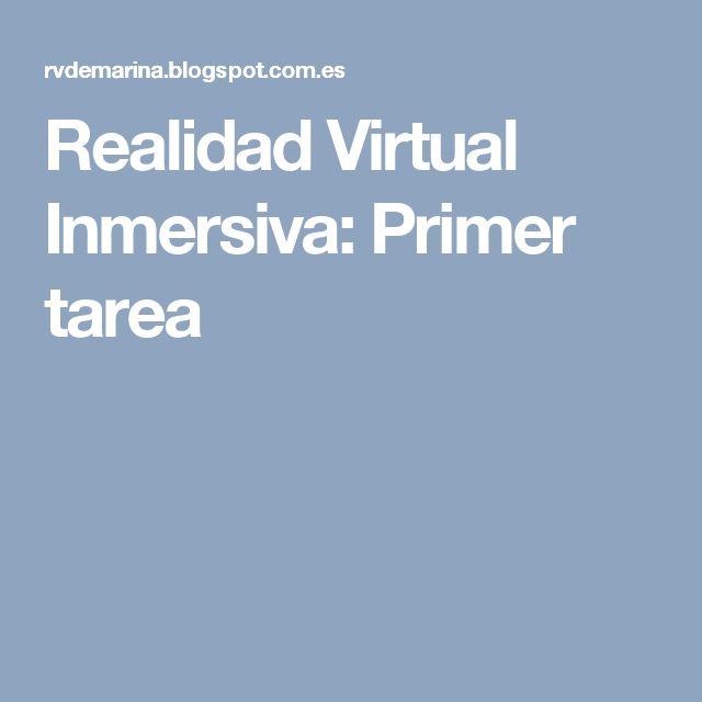 Realidad Virtual Inmersiva: Primer tarea