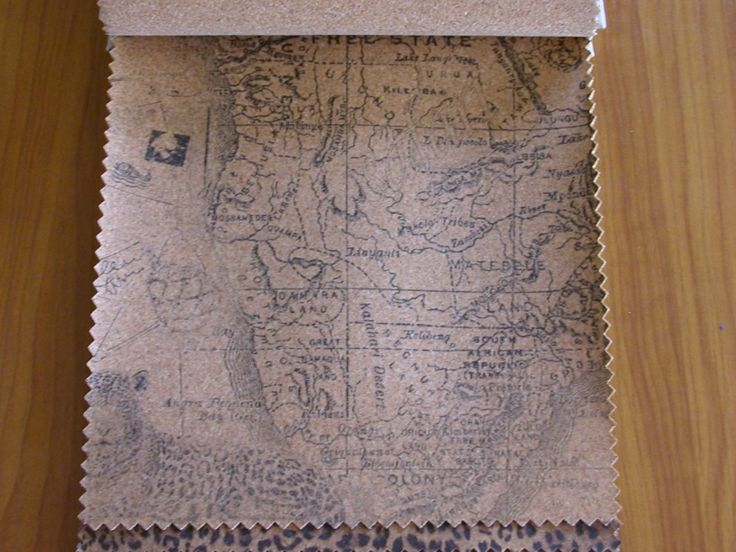 Térkép mintás parafa bútorszövet, kopásállóság MD 25 600